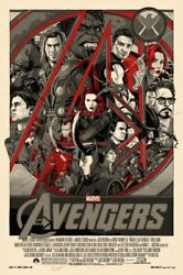 The Avengers By Tyler Stout - Variant - Very Rare Sold Out Mondo Print