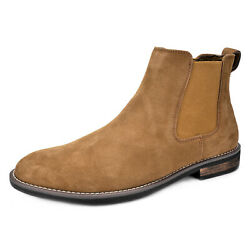 Men's  Ankle Boots Dress Suede Leather Casual Slip-on  Chelsea Comfort Boot US $35.69