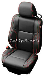 2015-2020 Dodge Charger Rt Katzkin Leather Seat Cover Kit Black Red Stitch Perf