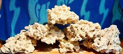 100lbs Dry Reef Base Rock, Lightweight, Porous, Great For Aquariums Live