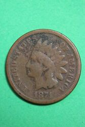 1874 Indian Head Cent Penny Exact Coin Shown Combined Flat Rate Shipping Oce 87