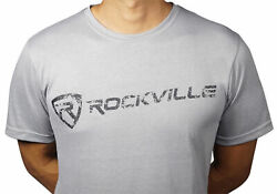 Rockville Grey Fitted T-Shirt - Size-Medium - Dry-Fit 65% Polyester  $9.99