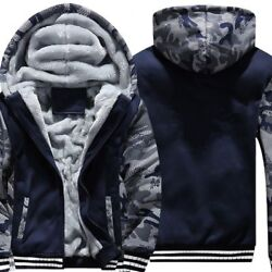 Menand039s Sweaters Hooded Jacket Warm Thick Cotton Polyester Casual Fashion Clothing