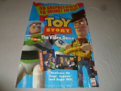 Pixar Toy Story Buzz Lightyear Woody Disney Poster One Sided Advertising Vintage