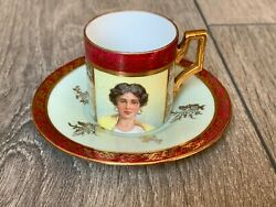 Royal Imperial Vienna Coffee Cup From 1750-1770 Vintage Antique Hand Painted