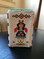 Vintage Native American Beaded Smokers Case, Beautiful, With Empty Pack,arrows