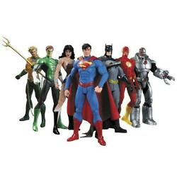 7 Pcs DC Justice League 7quot; Action Figure Toy Superman Batman Flash Wonder woman