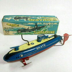 Marusan Submarine No. 9076 Tinplate 1960and039s Friction Type Vehicle With Box Japan