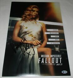 Vanessa Kirby Signed Mission Impossible - Fallout 12x18 Poster Bas Beckett