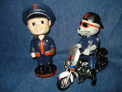 Sf Giants New Sga Lou Seal Motorcycle Cop And Law Enforcement Bobblehead Lot