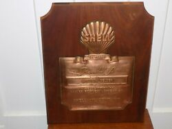 Vintage Shell Oil Company 15 Year Award Plaque