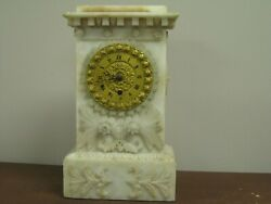 G223 1840s French Alabaster Clock
