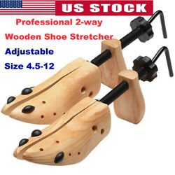Professional Adjustable 2-way Wooden Shoe Stretcher for MenWomen Size 4-12