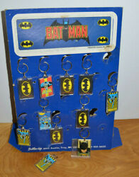 Batman Keychain Store Display Dc Comics 2011 Button-up With 10 Unused Keychains