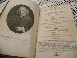 Johnsonand039s Dictionary In Miniature 1819 .scarce Book