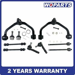 10pc Front Control Arm Ball Joints Inner Outer Tie Rods Fit For Ford Ranger 2wd