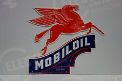 Mobil Oil Pegasus Horse Irregular Die Cut Sign 40 High By 36 Wide-extra Large-