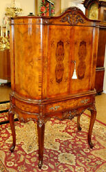 Incredible French Early 20th Century Circassian Burled Walnut China Cabinet