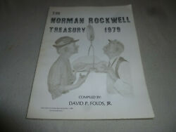 Vintage The Norman Rockwell Treasury 1979 Book Signed David Folds First Edition
