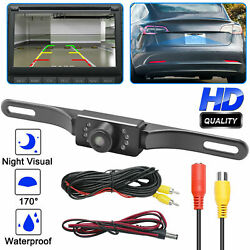 Wide 170° Night Vision Car Rear View Reverse Backup Parking Camera Waterproof $19.95