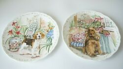 Two Vintage Decorative Plates Man's Best Friend Collection Royal Albert Great