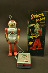 Nomura Toy Spaceman Electric Remote Control Tinplate Vintage Hard To Find Rare