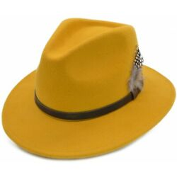 Unisex Fedora Hat High Quality Hand Made 100 Wool Felt With Many Colours,sizes