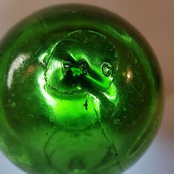 Glass Fishing Float Fgc Antique Vintage From Norway