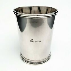 Hayden And Whilden Coin Silver Mint Julep Cup - Rare Southern Coin Silver