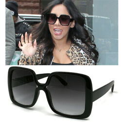 XL Women Oversized Sunglasses Vintage Jackie O Fashion Style Square Frame Snooki $9.95