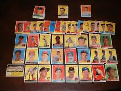 1958 Topps Vintage Baseball Card Set Lot 115 Diff Tigers Numerical Neal Face