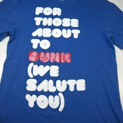 NIKE For those about the Dunk Rock We Salute You TEE T SHIRT Mens M Basketball $10.95