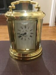 Antique Land039 Epee Sainte Suzzane French 11 Jewels Carriage Clock W Key 031702