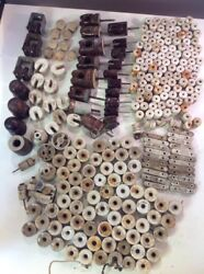Vintage Mixed Lot Porcelain White Electrical Fence Wire Insulators 257 Piece Diy