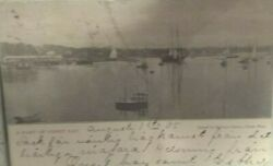 A part of Onset Bay Mass 1905 stamped Boston postcards vintage note stamped