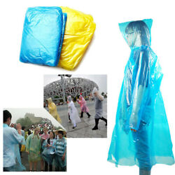 1020PCS Adult Disposable Poncho Raincoat Waterproof Emergency Rainwear Hiking