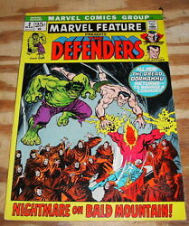 Marvel Feature 2 Defenders Very Fine 8.0