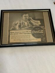 1939 Coca Cola Newspaper Ad Fes Moines Busy America Says Ok To The Pause ...
