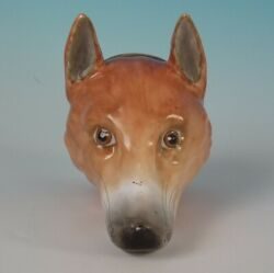 Staffordshire Pottery Stirrup Cup Modelled As A Fox Head