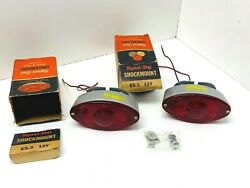 2 Nos Signal-stat Shockmount Stop And Tail Lamp / Lights N0. E5-3 12 Volt