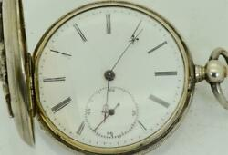Antique Imperial Russian Military Academy Award Silver Jules Jacot Pocket Watch