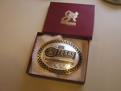 Gist Solid Bronze/sterling Silver Inlay 1997 Texas Motor Speedway Belt Buckle