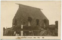 1913 Unposted Rppc Real Picture Postcard The Cannibal Temple Bau Fiji