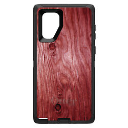 Otterbox Defender For Galaxy Note Choose Model Dark Red Weathered Wood Grain