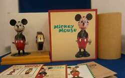 Disney Mickey Mouse Birthday Watch And Toy Set Vintage Toy Rare Used From Japan