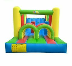 Castle Jumping Inflatable Bouncer House With Slides Trampoline Kids Playing Area