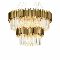 Lighting Modern Crystal Chandelier Fixture Luxury Contemporary Hanging Light New