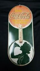1939 Coca Cola Thermometer Sign Delicious And Refreshing