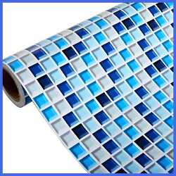 Yenhome BLUE Wallpaper Removable For Bathroom Wall Decor Waterproof Deacorative