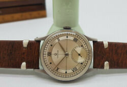Vintage 1944 Omega Sub Second Wheel Silver Dial Manual Wind Manand039s Watch